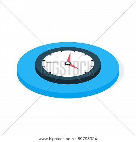 Flat Isometric Business Clock. Flat Isometric Vector Illustration poster
