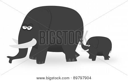 Cartoon Elephants