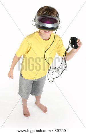 Boy With A Virtual Reality Game