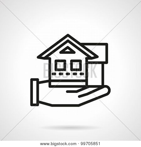 Line vector icon for rental house agency.