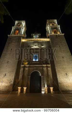 Valladolid Cathedral At Night