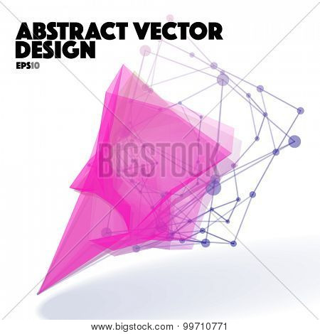 Abstract Vector Design Element. Connection Lines with Dots