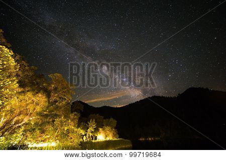 Milky Way Over Southern California Lake