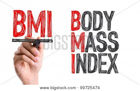 Hand with marker writing the word BMI - Body Mass Index