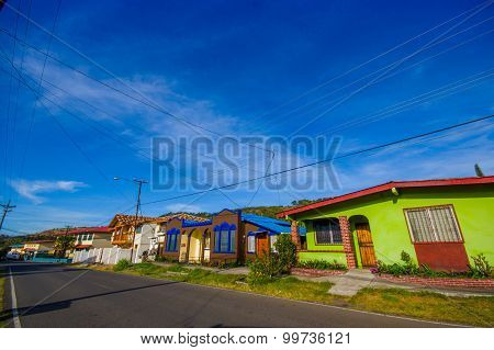 Boquete Is A Tourism Town On The Caldera River, In The Green Mountain Highlands Of Panama