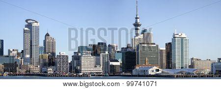 Panoramic view of Auckland city Skyline