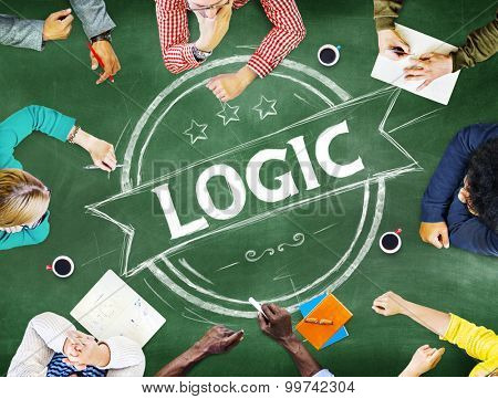 Logic Reasonable Critical Thinking Concept poster