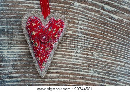 fabric love heart grunge background