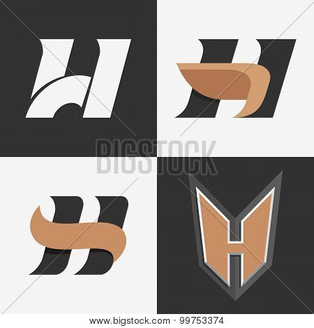 The set of letters H signs.