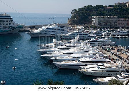 Monte Carlo Harbor of Monaco