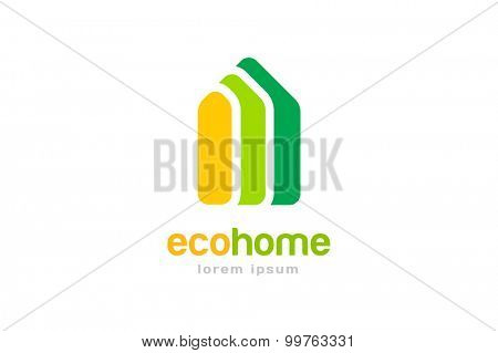 Bank, finance organization vector logo template. Money icon, home or house roof, mortgage and banking, loan, broke and growth. Realty logo, mortgage. Real estate. Lawyer office. Development logo