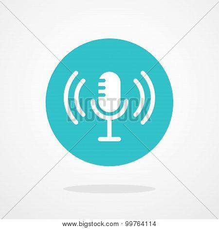Microphone Illustration. Webcast, Live Stream, Webinar