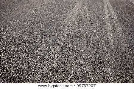 Asphalt texture detailed tarmac close-up, copy space pattern