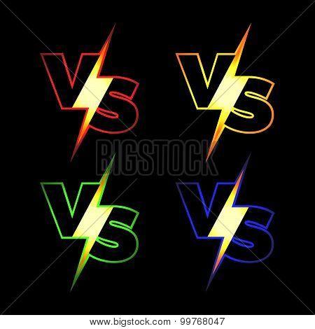Versus Vector Icons