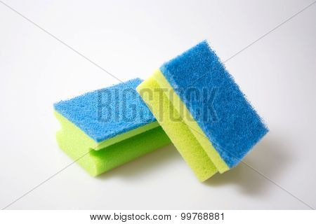 a photo of sponge on a white background