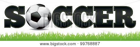 Soccer Word Art Illustration