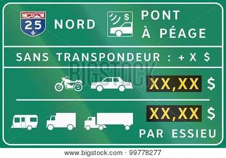 Toll Panel In Canada