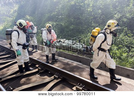 Toxic Chemicals Emergency Rescue People