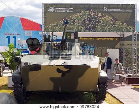 Fighting vehicle BMD-2 with an upgraded fire control system and power weapons