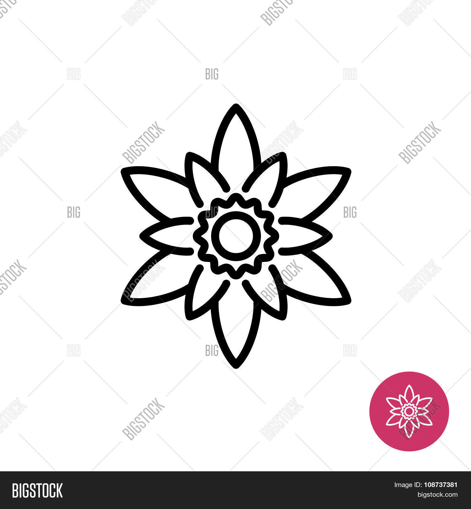 Lotus flower symbol vector photo free trial bigstock lotus flower symbol izmirmasajfo