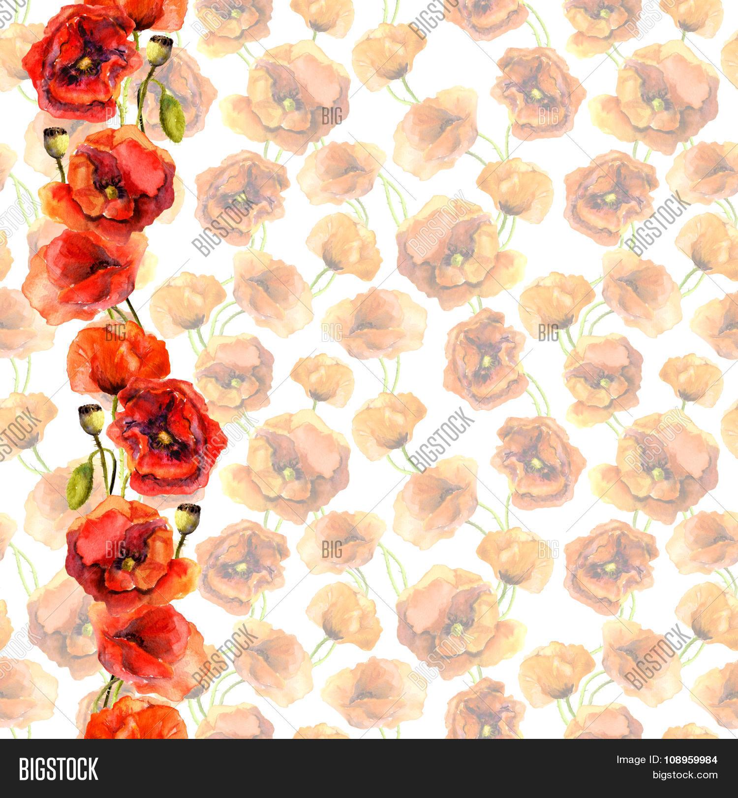 Seamless Pastel Floral Image Photo Free Trial Bigstock