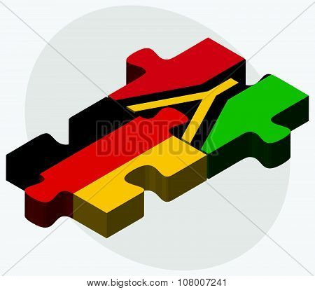 Germany And Vanuatu Flags