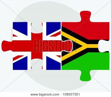 United Kingdom And Vanuatu Flags