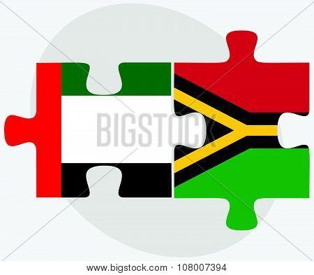 United Arab Emirates And Vanuatu Flags