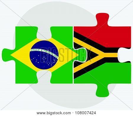 Brazil And Vanuatu Flags