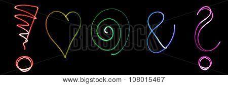 Flourescent symbols