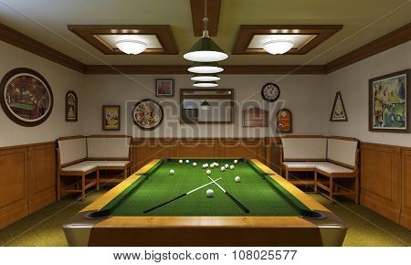 Billiard Room Modern Style
