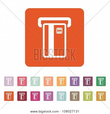 The atm card slot icon. Finance and payment, ecommerce, creditcard, banking symbol. Flat