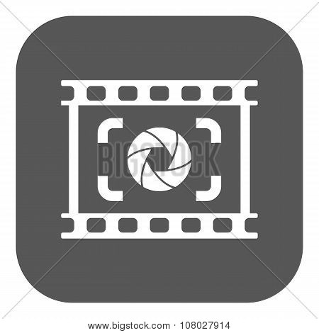 The viewfinder icon. Focusing and photography, photo symbol. Flat Vector illustration. Button poster