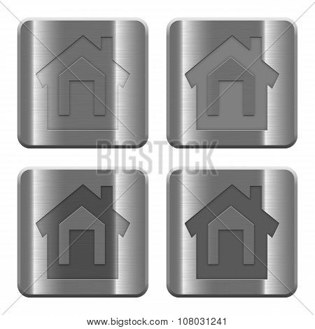Metal Home Buttons