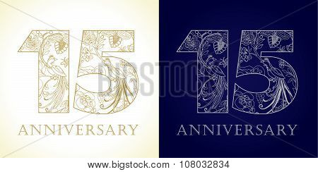 15 anniversary vintage logo.