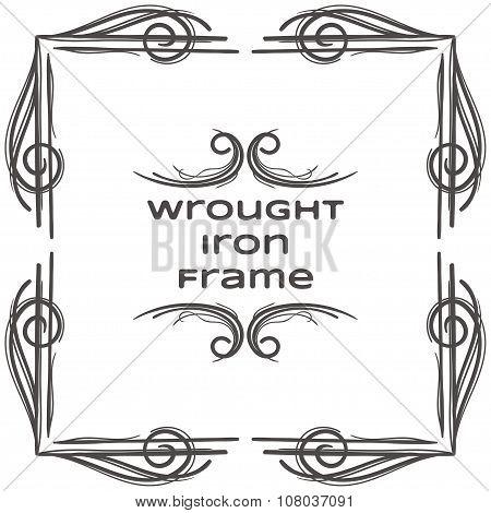 Wrought Iron Frame Four