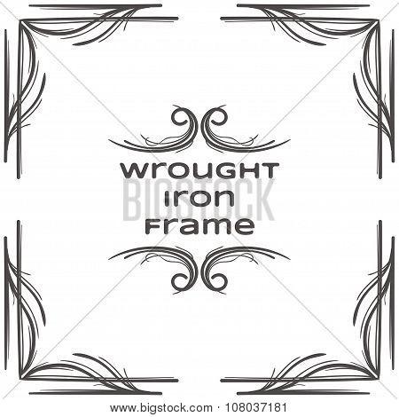 Wrought Iron Frame Two