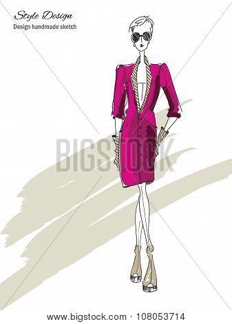 Model-violet-elegant