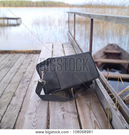 Abandoned Black Bag