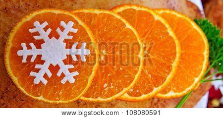 Orange fruit background.