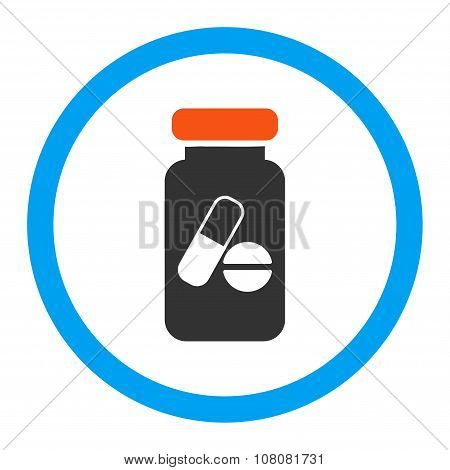 Drugs Phial Rounded Glyph Icon
