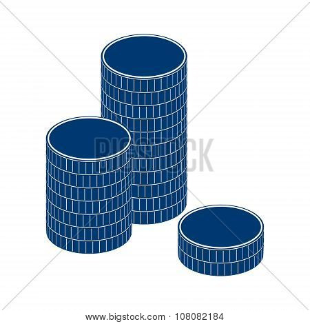 coin, stack, money, gold, pile