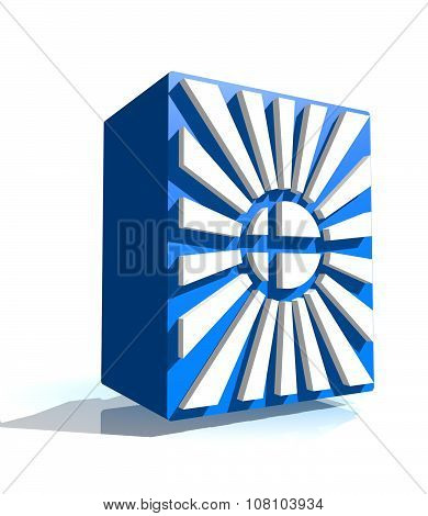 3d shape from finland national flag elements. Image for Independence Day celebration. 6 december finland national holiday poster