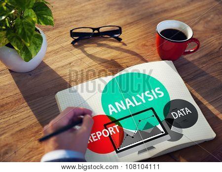Analysis Analyze Analyzing Business Information Concept