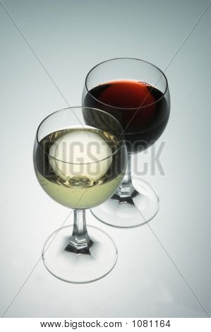 Red And Withe Wine