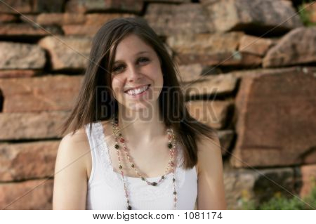 Playful Smile - Beautiful Young Woman
