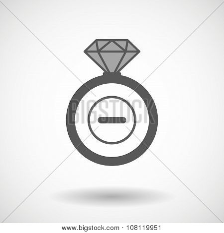 Isolated Vector Ring Icon With A Subtraction Sign