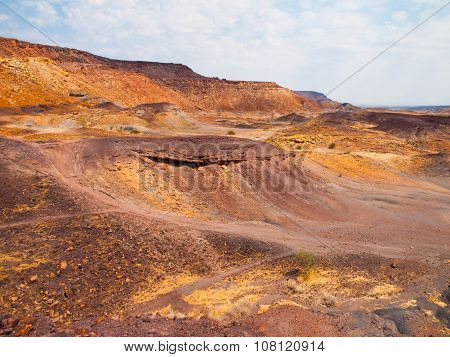 Landscape around Burnt Mountain in namibian Damaraland