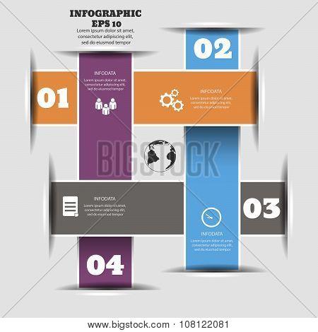 Abstract Paper Infografics Stock Illustration Eps 10