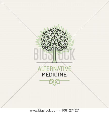 Vector Herbal And Alternative Medicine Logo Design